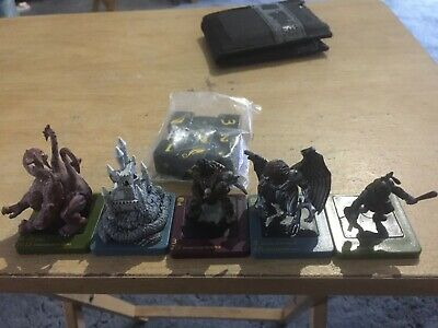 Dreamblade Figures X 5 Never Used. Lot 11 Wizards Of The Coast. + Dice • 5£