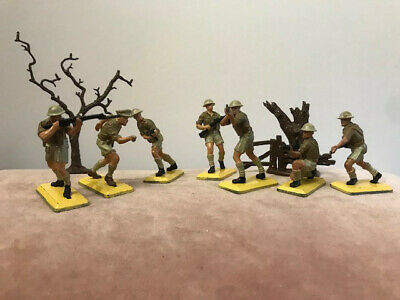 Britains Deetail WW2 British 8th Army Desert Infantry 1970's X 7 • 20£