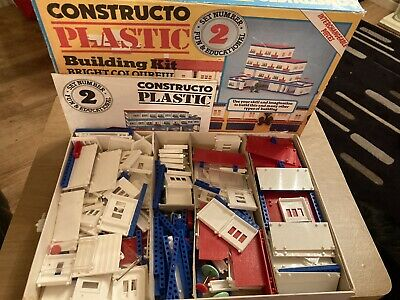 Vintage CONSTRUCTO Plastic Building Kit Fully Complete  • 9.99£