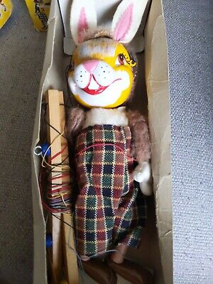 VINTAGE PELHAM PUPPETS (RABBIT) 1960s VERY RARE  AND HANSEL BOTH BOXED  • 46£