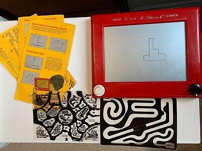 Vintage Etch A Sketch By Denys Fisher Plus 2 Games, Partial Instruction Book • 9£