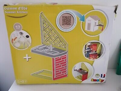 Smoby 810901 Kitchen For Play House, With Lots Of Accessories, Sink, Grill • 32£