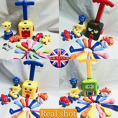 Inertia Balloon Launcher & Powered Car Toy Set Toys Gift For Kids Experiment ABS • 13.79£