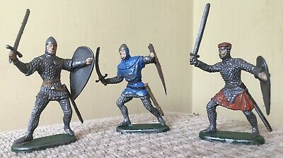 Vintage Elastolin Germany Norman Soldiers X 3 Collectible  • 65£