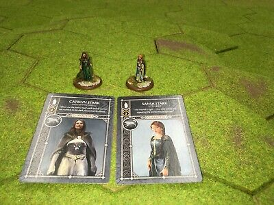 A Song Of Ice And Fire Nicely Painted Catelyn Stark And Sansa Stark Models • 15£