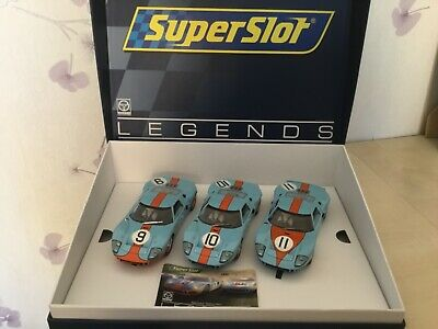 Scalextric Superslot H3896A Ford GT40 1968 Gulf Triple Pack Boxed Ltd Ed NEW  • 56£