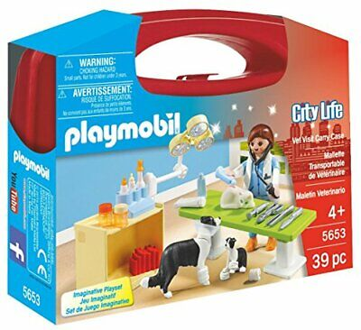 Playmobil 5653 City Life Collectable Small Vet Carry Case, Age 3+ Gift • 10.99£