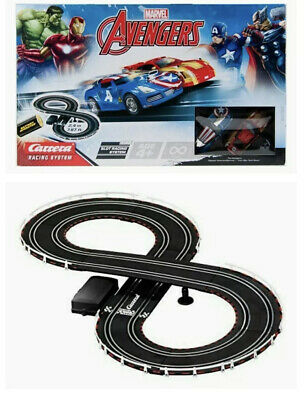 Kids Carrera Marvel Avengers Scalextric Style Toy Racing Track Set • 35£