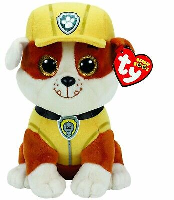 Ty Beanie - Rubble Paw Patrol 6  Plush Soft Toy 41209 • 8.49£