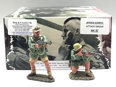 King & Country Afrika Corps Attack Group Ak57 1/30 • 94.99£