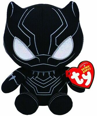 TY BEANIE -BLACK PANTHER MARVEL  6  Plush Soft Toy 41197 • 8.49£