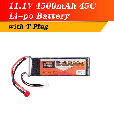 ZOP Power  Lipo Battery 11.1V 4500mAh 3S 45C  T Plug For RC Racing Car Drone UK • 24.89£
