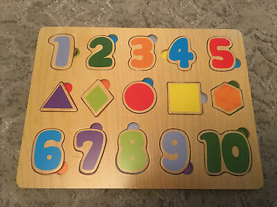 Childs Pre-School Puzzel Numbers & Shapes (B18) • 4£