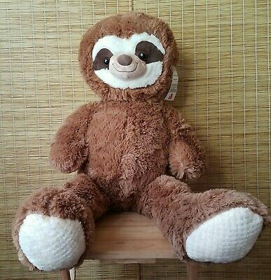 Giant Sloth Plush Cute Cuddly Toy 100cm Tall Soft Brown Aldi Little Town Gift • 44.99£