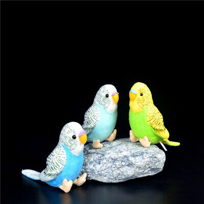Plush Cuddly Critters Green Or Blue Budgerigar Soft Toy Budgie  Gift 2 Colors • 9.16£