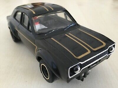 Scalextric C118 Ford Escort Mexico Black Working Lights New Rear Tyres • 14.99£
