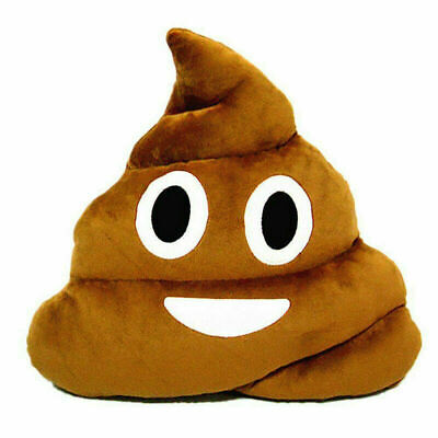 Poop Poo Family Emoji Emoticon Pillow Stuffed Plush Soft Cushion Funny Doll UK • 10.99£