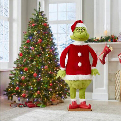 60CM Grinch Plush Doll How The Grinch Stole Christmas Kids Stuffed Toys Gift UK! • 13.88£