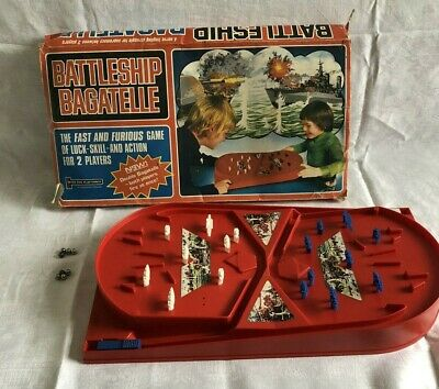 Battleship Bagatelle By Peter Pan Playthings 1977 Rare! In Full Working Order • 18.99£