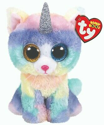 Official Ty Beanie - Ty Beanie Boo - Heather Cat   Reg 15cm Soft Toy 36250 • 7.99£