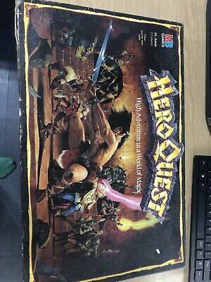 Vintage Hero Quest Fantasy Board Game By Mb Games 1989 • 56£