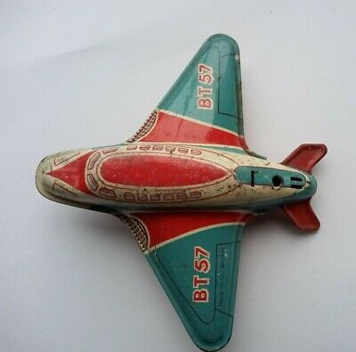 Vintage Toy Tin Plane (BT57) From1960s • 7£