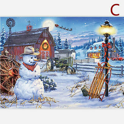 1000 Piece Jigsaw Puzzle Children-Adult Christmas Snowman Puzzles Xmas Cities UK • 8.99£