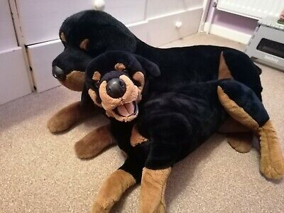 Cute Family Of Rottweiler Dogs Soft Toys • 9£