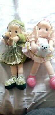 Wind Up Fabric Soft Dolls Kawaii Fairy Kei Cute Musical Heads Rotate • 25£