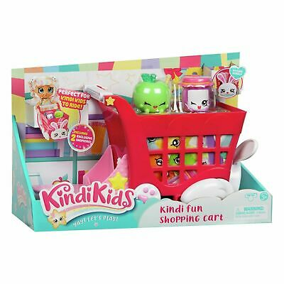 Kindi Kids Rabbit Petkin Shopping Cart And Shopkins • 24.99£