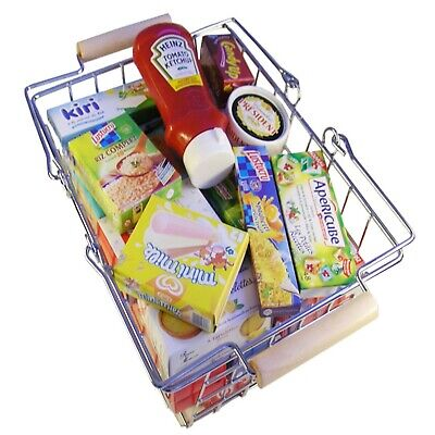 Mini French Groceries + Basket By Polly Play Shop, Kitchen Or Learn French New • 5£