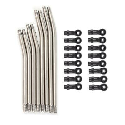 Metal Link Set Sturdy Vehicle Linkage 5mm Steering Rod & Nylon End For 1/10 RC • 18.99£