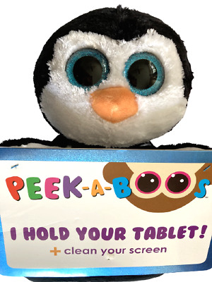 Ty Beanie Peek A Boos Hold Tablet Clean Screen Penni Black White Penguin *New • 15.97£