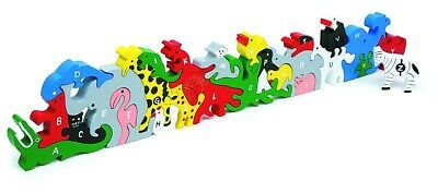 Wooden Animal Letters & Numbers Puzzle • 17.50£