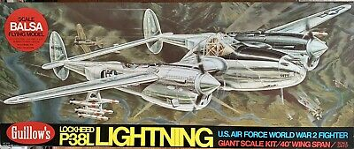 Guillow's P38l Lightning Giant Scale Model • 100£