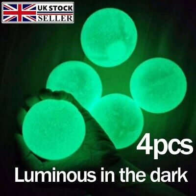 Stress Relief Luminous Sticky Ball Fluorescent Sticky Ceiling Wall Ball Toy Gift • 5.39£