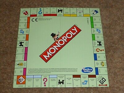 Spare Pieces For 2014 Hasbro Travel Monopoly - Game Board • 2.50£