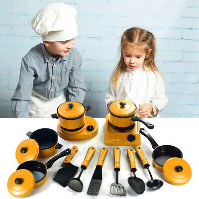 13Pc Kids Play Toy Kitchen Cooking Play Sets Home Cooking Role Play Toys Cooking • 6.99£