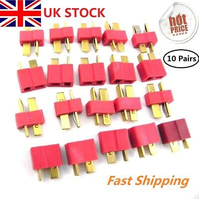 10 Pairs T Plug Male & Female Connectors Deans Style RC LIPO Battery Hobby Set • 2.49£
