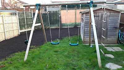 Plum Gibbon Wooden Garden Swing Set • 89.99£
