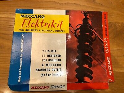 Meccano Elektrikit Boxed With Instructions 1960s Largely Complete • 50.99£