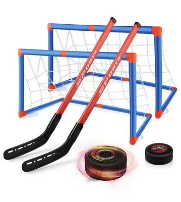 Kids Hover Hockey Family Indoor Sports Game Air Power Rrp £22 • 8£
