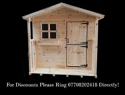 6ft X 6ft Wooden Playhouse With One Georgian Bar Window • 340£