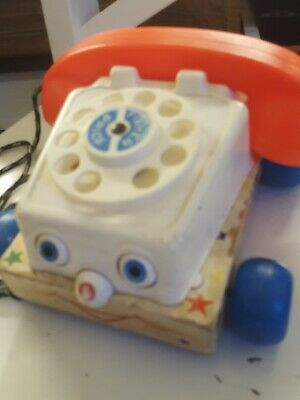 Fisher-Price Pull Along Phone Retro Vintage • 4.10£