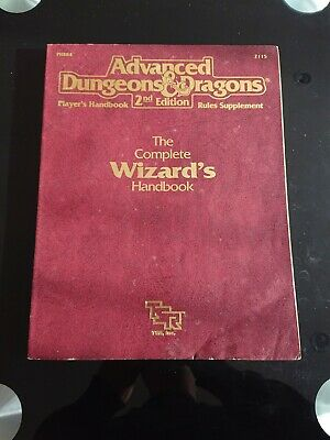 Advanced Dungeons & Dragons  2nd Edition - The Complete Wizard's Handbook. #2115 • 24.99£