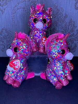 Ty Beanie Sequin Unicorn - Pink And Silver - Kids/Child Toy - Brand New  • 10£