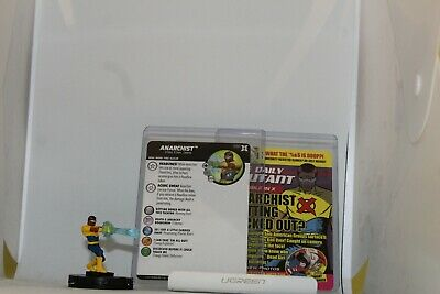 Wizkids Heroclix Marvel Deadpool & X-Force 030 Anarchist Uncommon With Card • 0.50£