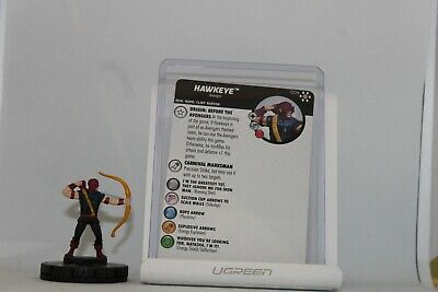 Wizkids Heroclix Marvel Avengers Infinity 004 Hawkeye Common With Card • 0.50£