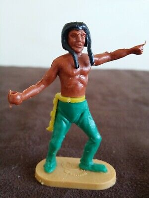 Cherilea Toys Ltd Gt Britain Indian Figure Figurines Plastic • 0.99£