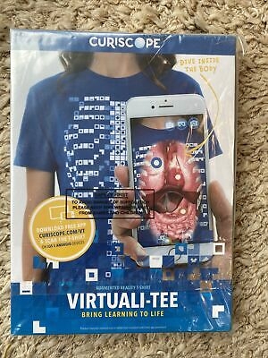 BRAND NEW Curiscope Augmented Reality T-Shirt. Virtuali-Tee. SIZE XL, Age 12-14 • 10£